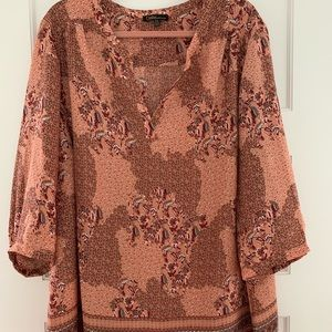 Dalia earth tone tunic NWOT